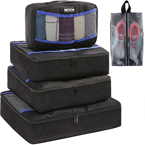Price comparison product image 5 Set Packing Cubes for travel with shoe bag Luggage Packing Organizers travel accessories