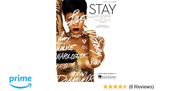 Amazon Rihanna Stay Pianovocal Sheet Music Musical