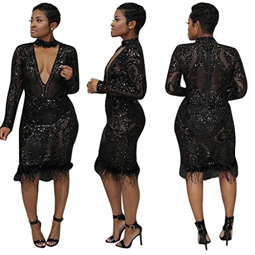 Automne Femme Slim Hanche Hiver Paillettes WDFZ Fashion Jupe Sexy Black Robe nfg4XXH