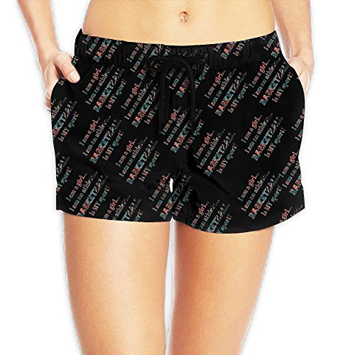DE9h Pants I Am A Girl I Am An Athlete Basketball Is My Sport Woven Quick Dry Beach Shorts Casual Lightweight Surf Shorts With Pockets ()