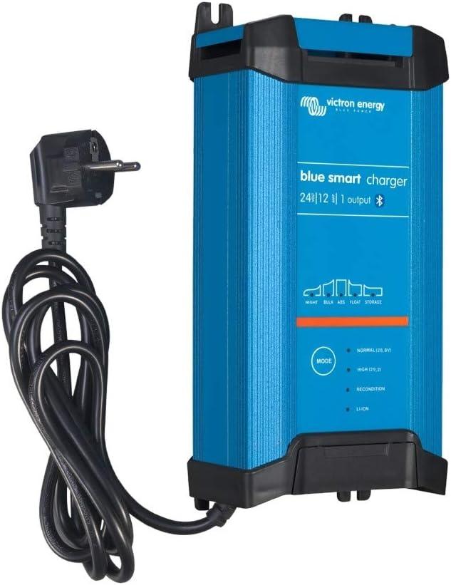 Victron Energy BPC241242002 Blue Smart IP22 Cargador 24/121 230 V CEE 7/7, 24V/12A-1 Salida