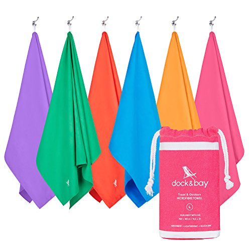 Microfiber Towel - Travel & Outdoors (Pink - Large 63x31