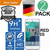 Google Pixel [5.0] 2Pack [9H+ Ballistic] HD [Tempered Glass] Screen Protector [Bubble Free] Laser Cut [Case Friendly] Shatter Proof [Anti Scratch] High Definition [Oleophobic] Resistant [Easy Install]