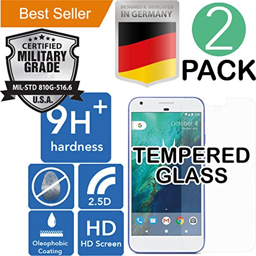 Google Pixel [5.0] 2Pack [9H+ Ballistic] HD [Tempered Glass] Screen Protector [Bubble Free] Laser Cut [Case Friendly] Shatter Proof [Anti Scratch] High Definition [Oleophobic] Resistant [Easy Install] by MyNovation
