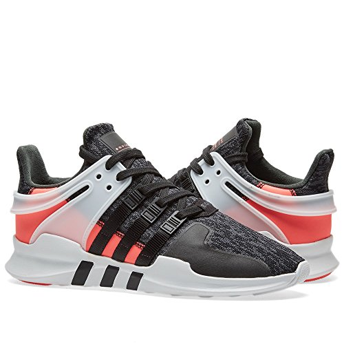Adidas Originals Mens Shoes   Eqt Support Adv Fashion Sneakers  Black Black Turbo Fabric   9 5 M Us