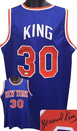Bernard-King-New-York-Knicks-signed-Blue-TB-Prostyle-Jersey-XL-JSA-Hologram-Autographed-NBA-Jerseys