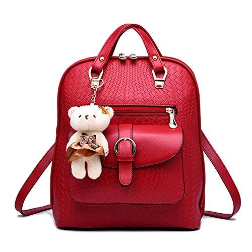 à à Sac Femme Dos à Bandoulière Casual en Sacs Loisir dos Rouge Mini PU Ours Cuir avec sac Sac Noir w5qAxWqFgX