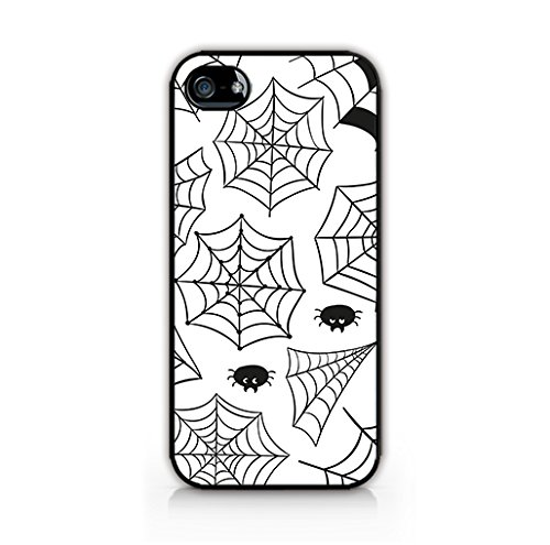 Cream Cookies - Halloween Icons Patterns - Spiderwebs Drawing Background - Apple iPhone 4 Case - Apple iPhone 4S Case - Hard Plastic Case]()