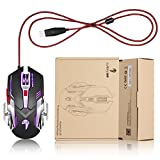 Ansot X5 Gaming Mouse wired with colorful led, 3200 DPI 5 Buttons Ergonomic Gaming Mouse for PC