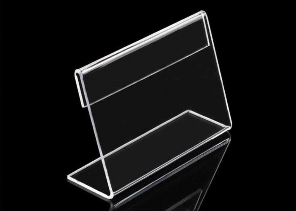 FGDH&SDF 20 Muestra de tabla de acrílico en forma de L Etiqueta de precio Pantalla Clip de papel Soporte de tarjeta de etiqueta de escritorio-9X6Cm: Amazon.es: Oficina y papelería