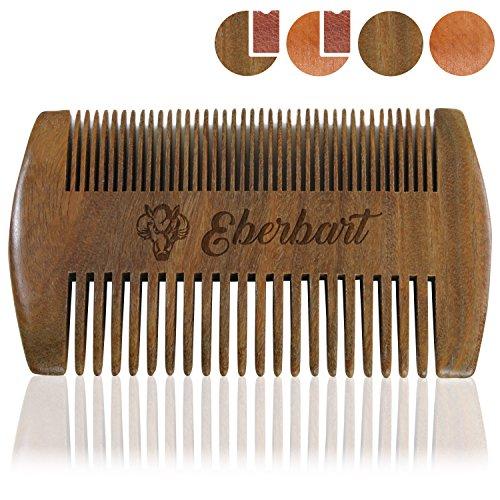 Eberbart Bartkamm - Antistatischer Echtholzkamm für einen natürlich gepflegten Bart (Sandelholz)
