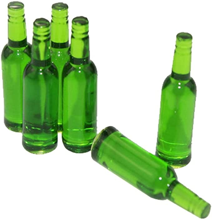 2Pcs 1//12 Dollhouse Miniature Accessories Mini Resin Wine Bottle Model ToyRSZ8