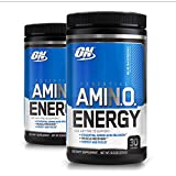 Optimum Nutrition Essential Amino Energy, Pack of Two 30 Servings (Blue Raspberry 2 x 30 servings)