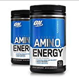 Cheap Optimum Nutrition Essential Amino Energy, Pack of Two 30 Servings (Blue Raspberry 2 x 30 servings)