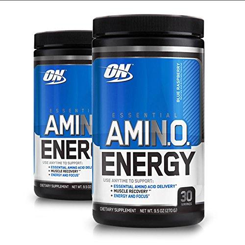 Optimum Nutrition, (2 Pack) Essential Amin.O. Energy, Blue Raspberry, 9.5 oz (270 g) by Optimum Nutrition