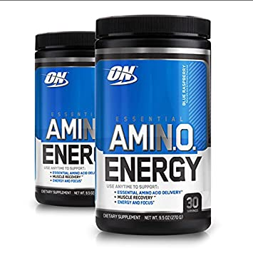 Optimum Nutrition Essential Amino Energy, Pack of Two 30 Servings Blue Raspberry 2 x 30 servings