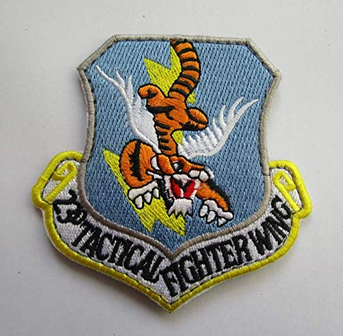 USAF 23rd Tactical Fighter Wing Military Patch Fabric Embroidered Badges Patch Tactical Stickers for Clothes with Hook & Loop