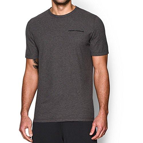 Under Armour Men's Charged Cotton T-Shirt, Carbon Heather (090)/Black, X-Large