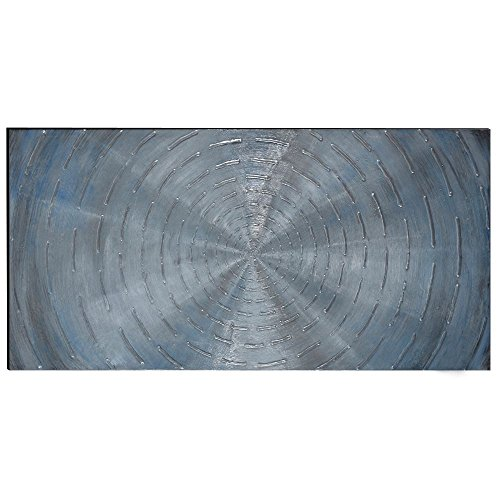 The Urban Port Antique Circles Hand Painted Wood Wall Art Decor ()