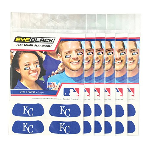 Kansas City Royals Tailgate - EyeBlack (24 Strips) - Kansas City Royals Blue MLB Eye Black Anti Glare Strips, Great for Fans & Athletes on Game Day