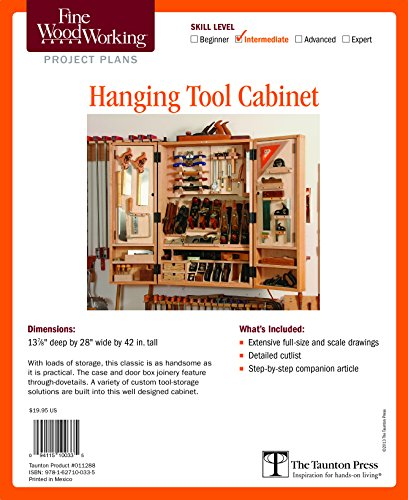 Fine Woodworking's Hanging Tool Cabinet Plan (Fine Woodworking Project Plans)
