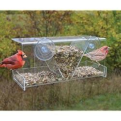 Songbird Essentials Clear View Deluxe Hopper Window Feeder