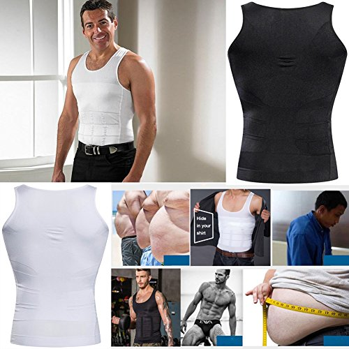 e5bcde3bf Bodywear Men s Slimming Body Shaper Gynecomastia Compression Shirt for Weight  Loss