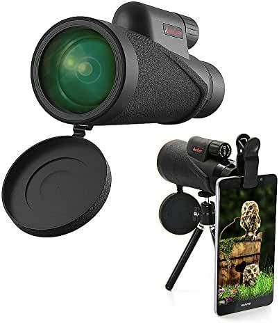 MeeQee High Power Monocular Telescope 10×42 Nitrogen Filled Waterproof Monocular Scope, HD Wide View BAK4 Prism Scope for Bird Watching/Hunting/ Hiking/Outdoor/Surveillance