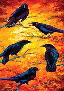 "Toland Home Garden 109547 Dusk Crows 28 X 40"" Decorative USA-Produced House Flag"
