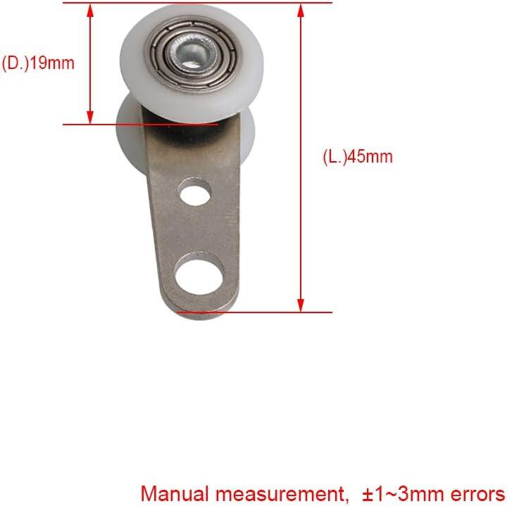 BQLZR Bloque de polea de metal con dos ruedas de plástico para puertas correderas o ventanas: Amazon.es: Bricolaje y herramientas