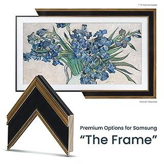"Deco TV Frames - Antique Gold & Black Frame Custom for Samsung The Frame TV (43"")"