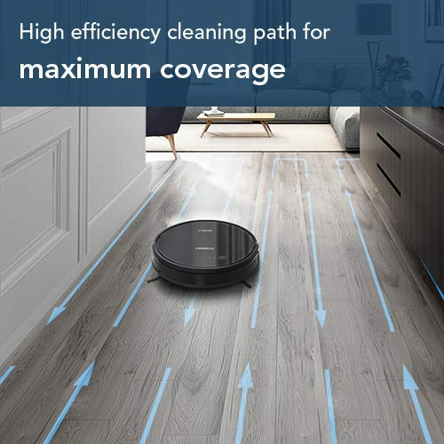 ECOVACS DEEBOT 601 Robot Vacuum Cleaner, S-Shaped Systematic Movement, Power Suction &...