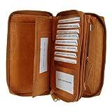MW4575-BK Womens Credit Card Check Book Cash ID Black Wallet TAN