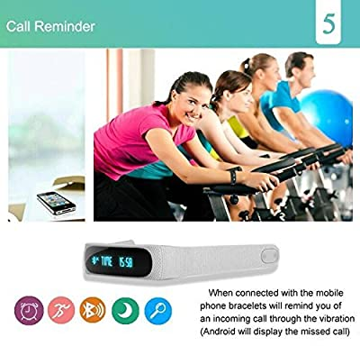 Fitness Tracker, Activity Tracker Waterproof Sports Wristband Pedometer Bluetooth Smart Bracelet for iOS Android Cellphones Smart Watch
