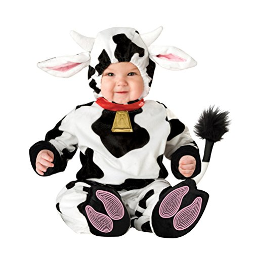 [Dairy Cattle Costume Infant, Baby Boy Girl Cute Halloween Animal Cosplay Outfit 6 Months-2T (6 Months)] (Cute Baby Costumes Sale)