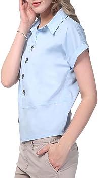 NASHALYLY Camicia a Maniche Corte Camicia Elegante Camicia Estiva Semplice  Donna. NASHALYLY Camicia a Maniche Corte Camicia Elegante Camicia Estiva ... 92aa2aa4943