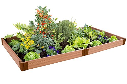 Frame It All Raised 1 Level Garden, 4 by 8' by Frame It All