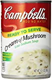 Campbell's Low Sodium Soup, Cream of Mushroom, 10.5 oz ( 12 Ct)