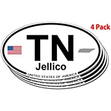 Jellico, Tennessee Oval Sticker - 4 pack