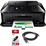 Canon PIXMA MX922 Wireless Inkjet Office All-In-One Printer + Genuine Canon Ink PGI-250 Pigment Black XL Ink + Printer Cable