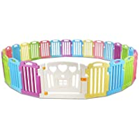 Cuddly Baby 25-Panel Plastic Baby Playpen Interactive Kids Toddler Room Divider