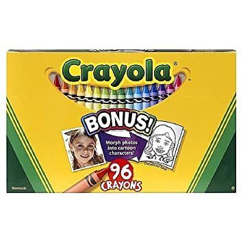 amazon co jp crayola 96 countクレヨンwith組み込み削り器 c20009