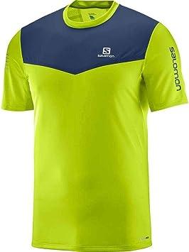 SALOMON Fast Wing Camiseta Cuello Redondo Manga Corta Poliéster - Camisas y Camisetas (Camiseta, Adulto, Masculino, Cal, Marina, Monótono, S): Amazon.es: Deportes y aire libre