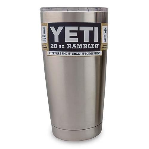 Yeti Coolers Rambler Tumbler, Silver, 20 oz