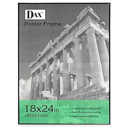 Dax Black Solid Wood Poster Frames w//Plastic Window Wide Profile 16 x 20 2863V2X