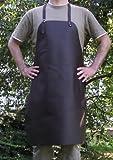 Schöne echt Leder Grillschürze - Kochschürze - Lederschürze - Kellnerschürze 70x90 cm - mit verstellbaren Riemen