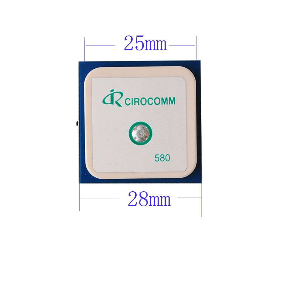 32db High Gain Cirocomm 5cm Active GPS Antenna Ceramic Antenna 25x25x2mm Geekstory