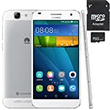 Huawei Ascend G7 GSM Unlocked Smartphone (gift-16GB TF) 5.5 inch 2GB + 16GB 13MP Android 4.4(EMUI 3.0) MSM8916 Quad Core 1.2 GHz IPS LTPS Screen, GSM (Silver+ 16GB TF Card)