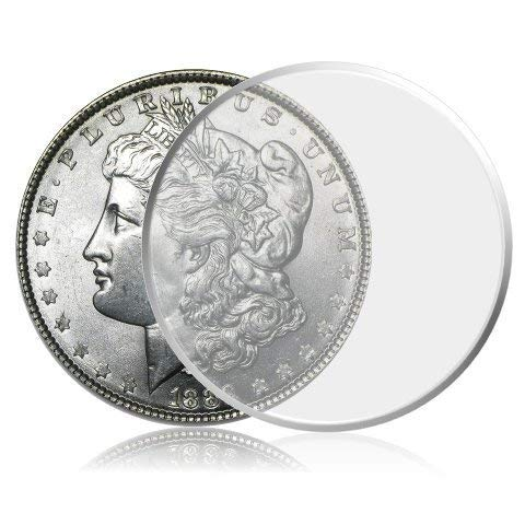 Hicarer 60 Pieces 40 mm Silver Eagles Coin Capsules Coin Case Coin Holder with