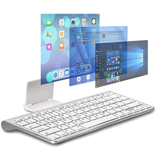 ac5eb312013 CHESONA Bluetooth Keyboard Ultra Slim Sliding Stand Universal Wireless  Bluetooth Keyboard Compatible Apple iOS iPad Pro